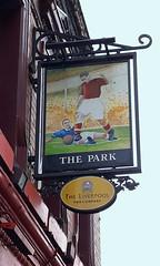 English Pub Sign - the Park, Anfield, Liverpool (big_jeff_leo) Tags: sign pub pubsign publichouse streetart painted art liverpool