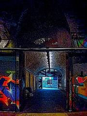 The Passage (Steve Taylor (Photography)) Tags: passage tunnel digitalart graffiti streetart tag uk gb england greatbritain unitedkingdom london texture leakestreet