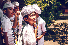 BALI, INDONESIA - OCTOBER 3, 2018: Balinese boys in traditional costume on a balinese family ceremony in desa Pejeng Kangi. (Artem Beliaikin) Tags: traditional child temple costume playing indonesia balinese bali culture travel indonesian asia asian beautiful boy young kid girl person editorial portrait ceremony outdoor cute face happy smile fun lifestyle childhood cheerful cultural looking ritual happiness destination tropical offerings park southeast family tradition children group religious school woman people activity celebration