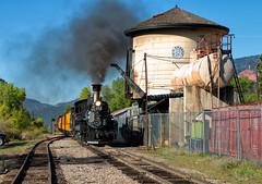 Hermosa Tank (Wheelnrail) Tags: ds durango silverton colorado narrow gauge railroad water tank denver rio grande rocky mountain san juan rural steam engine locomotive k28 sunny