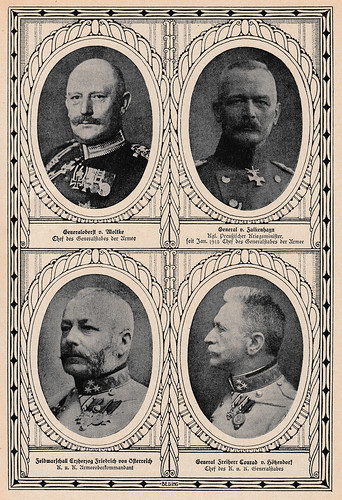 Framed portraits of WWI generals