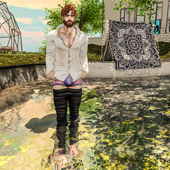 Wet (Raziel Ghalrick) Tags: dura gabriel riot lake wet gay sl secondlife blog blogger mesh avatar blogging men man guy male pants events online second life skin daniel mode body bodys bodies meshclothes clothes bed play event nature relax enjoy fun shorts shoes nice socks dappa tattoo sun people pose sim flickr grass tree jump sky portrait building painting head shape tanktop