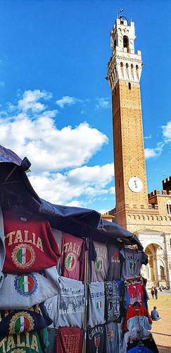 Merch in Piazza del Campo , Siena, Italy