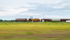 BCOL Racing west at Boughtonville (Brandon.H.Photography.) Tags: ohio canon rail railroad railfan ge bcol british columbia railway grain train trains railfanning west csx bnsf v089 june