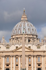 St. Peter's Basilica (Ryan Hadley) Tags: stpeters stpetersbasilica cathedral basilica church dome architecture renaissance stpeterssquare piazzasanpietro piazza square obelisk baroque vatican vaticancity rome italy europe worldheritagesite