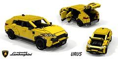 Lamborghini Urus (2018) (lego911) Tags: lamborghini urus 2018 2010s suv cuv crossover v8 turbo awd 4wd wagon coupe vag mlb mlbevo auto car moc model miniland lego lego911 ldd render cad povray italy italian superwagon