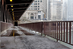 The cold (dharder9475) Tags: 2015 bridge cold empty hdr lowermichiganavenue michiganavenue privpublic river underchicagoseries water winter