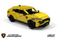 Lamborghini Urus (2018) (lego911) Tags: lamborghini urus 2018 2010s suv cuv crossover v8 turbo awd 4wd wagon coupe vag mlb mlbevo auto car moc model miniland lego lego911 ldd render cad povray italy italian superwagon foitsop