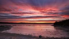 Dramatic sky (gaudreaultnormand) Tags: canada chicoutimi dramaticsky fjord leverdesoleil longueexposition lumière quebec rivière rivièresaguenay saguenay sunrise juin lowtide