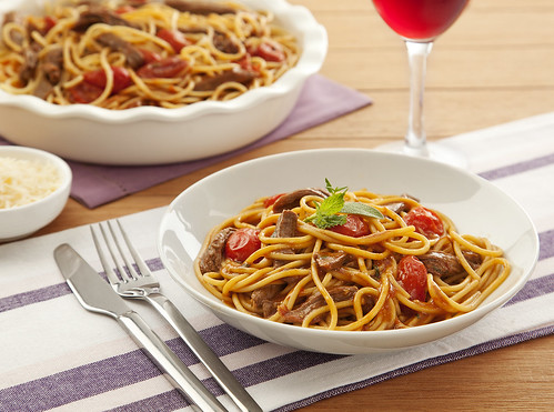 Spaghetti com Cordeiro e Ervas