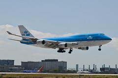 KLM Airlines 747-406(M) (PH-BFI) LAX Approach 1 (hsckcwong) Tags: klmairlines klm 747406m 747400 747 phbfi lax klax