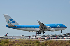 KLM Airlines 747-406(M) (PH-BFI) LAX Approach 4 (hsckcwong) Tags: klmairlines klm 747406m 747400 747 phbfi lax klax