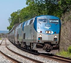 Amtrak 817 (Jonah Arndt) Tags: amtrak empirebuilder ge genesis p42 superliner passenger train sun sky clouds rocks rail tracks americas locomotive
