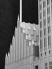 High Points (Diorama Sky) Tags: architecture skyscraper us texas unitedstates postmodern tx houston officebuilding bank bankofamerica philipjohnson postmodernism bankofamericacenter johnsonburgeearchitects republicbankcenter nationsbankcenter fora dioramasky johnburgee