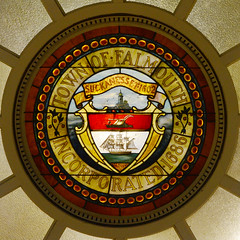 Falmouth (mag3737) Tags: falmouth mass seal 1686 year date library ceiling squaredcircle squircle