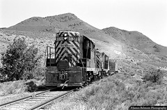 At the Foot of Warm Springs Mountain (jamesbelmont) Tags: riogrande drgw tinticbranch genola goshenvalley townsend warmspringsmountain emd gp9 local train railroad railway locomotive