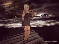 What a mystical night (Carol`s Blog) Tags: night mystic beach sea dress blond secondlife secondlifefashion