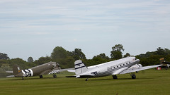 DC-3 Skytrain (Bernie Condon) Tags: dc3 skytrain douglas dakota c47 airliner transport cargo military usaaf ww2 uk british shuttleworth collection oldwarden airfield airshow display aviation aircraft plane flying festivalofflight june2019