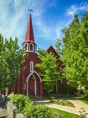 Sonora, California: The Red Church (rocinante11) Tags: church red sonora california unitedstates craftsmangothic