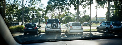Two SUVs and two small cars