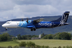 ES-ATA Nordica ATR 72-600 at Glasgow International Airport on 9 June 2019 (Zone 49 Photography) Tags: aircraft airliner aeroplane june 2019 glasgow scotland egpf gla abbotsinch airport lo lot nordica atr 72 atr72 600 esata