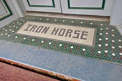Iron Horse Hotel, Blackwater, MO (Robby Virus) Tags: blackwater missouri mo tile tiles tiled entry entrance floor front door doorway iron horse hotel
