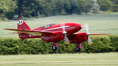 DH Comet (Bernie Condon) Tags: uk british shuttleworth collection oldwarden airfield airshow display aviation aircraft plane flying festivalofflight june2019 de havilland dh88 comet racer racing vintage preserved classic