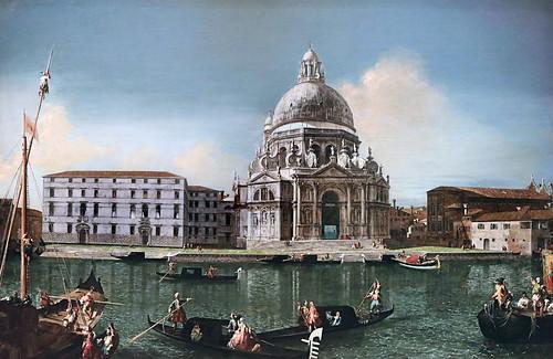 IMG_1184A Michele Marieschi 1710-1743 Venice The Grand Canal with Santa Maria della Salute 1740 Madrid Thyssen-Bornemysza.
