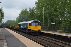 66789 enters Mexborough with the 6X01 Scunthorpe to Eastleigh, 13th June 2019. (Dave Wragg) Tags: 66789 class66 gbrf 6x01 mexborough loco locomotive railway
