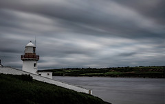 Youghal Lighthouse (John Holmes (DAJH51)) Tags: youghal colour estuary highcontrast lighthouse longexposure nopeople riverblackwater whitewashwalls