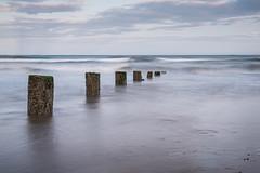 Youghal Strand 10-1-2018 (John Holmes (DAJH51)) Tags: youghal breakers cork groynes ireland nikon old rocks sea waves weathered whitewater wood