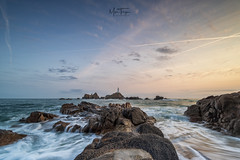 Corbiere Point. (miketonge) Tags: jersey channelislands corbiere corbierelighthouse corbierepoint rocks waves sea tide sunset dusk miketongephotographycouk miketonge nisi nikon d850