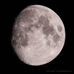 Moon - 6-14-19 (nathantw) Tags: moon lunar satellite nathantw nathantwong nikon skywatcher d810 nikkor 400mm ais tc301 800mm f56 staradventurer