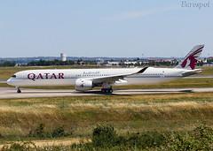 F-WZGY Airbus A350-1000 Qatar (@Eurospot) Tags: a7anj fwzgy airbus a350 qatar toulouse blagnac