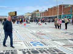 On the Comedy Carpet at Blackpool (Tony Worrall) Tags: welovethenorth nw northwest north update place location uk england visit area attraction open stream tour country item greatbritain britain english british gb capture buy stock sell sale outside outdoors caught photo shoot shot picture captured ilobsterit instragram photosofpreston blackpool resort county town northern lancs lancashire fylde fyldecoast coastal street streetphotography urban candid people person picturesinthestreet seaside