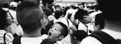 9/6 protest kid (stevenwonggggg) Tags: kodak trix400 bw blackandwhite kids