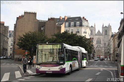 Heuliez Bus GX 427 GNV - Semitan (Société d'Économie MIxte des Transports en commun de l'Agglomération Nantaise) / TAN (Transports en commun de l'Agglomération Nantaise) n°296