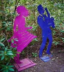 Party in the woods. (Traveller858) Tags: uk surrey farnham churt thesculpturepark