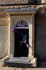 Dinky Doors - 10 Downing Street, with Monster (3) (Phil Masters) Tags: 1stapril april2019 cambridge cambridgeshire downingstreet dinkydoors 10downingstreet door no10 10downingstreetdoor tentacles monster