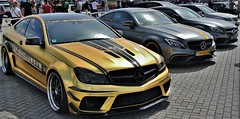 (Uno100) Tags: mercedes benz car coupe c class gold black turbo tuning exhibition exclusive 63 amg mae design wheels rims akrapovic series super sunday assen 2019 tip