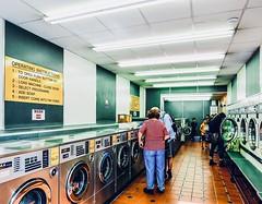 IMG_1150576 (Kathi Huidobro) Tags: urbanscene citylife chores londonshops lightingdesign lighting retro interiordesign candid london laundry coinop selfservice laundromat launderette