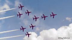 RNAS Yeovilton Air Day 85 - Red Arrows Concorde Formation (DougRobertson) Tags: redarrows concorde rnasyeovilton aircraft airshow airdisplay airday raf