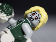 Zombie Cheerleader (DayBreak.Images) Tags: tabletop toy lego miniature zombie cheerleader canondslr meike 85mmf28 macro manfrottolumimuse lightroom