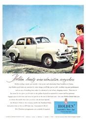 1955 FJ Holden Sedan Aussie Original Magazine Advertisement (Darren Marlow) Tags: 1 5 9 19 55 1955 f j fj h holden s sedan c car chrome collectible collectors classic a automobile v vehicle g m gm gmh general motors aussie australian australia 50s