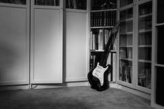 Expectations (kerwitcherwoo) Tags: smileonsaturday blackandwhite bw monochrome guitar musicinbw cmwdblackandwhite