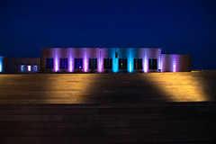 Contemporary Building in Syracuse (me.darren) Tags: syracuse modern blue colorful graphic architecture purple concept abstract black design modernbuilding isolated light