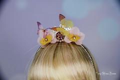 Flower headbands MSD/YOSD (AnnaZu) Tags: yosd msd minifee headband flower butterfly paper dloofairyland