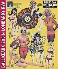 Girls Selections (BOPST) Tags: bopst design graphicdesign photoshop poster gigposter booking vintage vintageadvertising 2012 rva