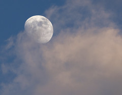 Moon shot from last night...... (Kevin Povenz Thanks for all the views and comments) Tags: 2019 june kevinpovenz westmichigan michigan ottawacounty jenison outside outdoors moon clouds dusk evening night canon7dmarkii sigma150600 sunlit zoom
