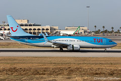 TUI Boeing 737-8K5 'G-TAWK' LMML - 06.06.2019 (Chris_Camille) Tags: spottinglog registration planespotting spotting maltairport airplane aircraft plane sky fly takeoff airport lmml mla aviationgeek avgeek aviation canon5d canon livery myphoto myphotography